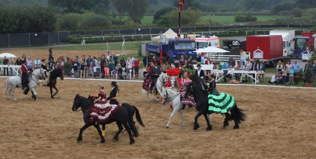 Eine tolle Show präsentieren die spanischen Pferde. (Fotos: Volker Moerke)